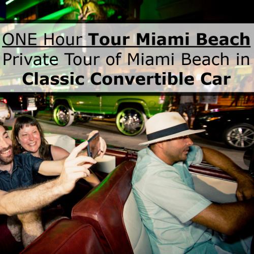1HR Car Tour of Miami Beach