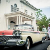 classic car drivers ready in Miami