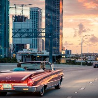 Miami Views from Comfort of Classic Tour Car