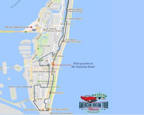 1HR Car Tour of Miami Beach