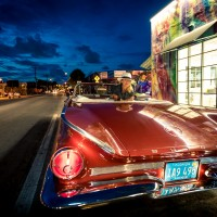 City Tour Wynwood in Convertible Classic Car Tours at Night