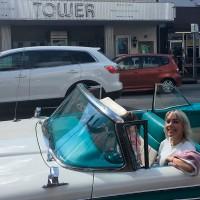 Cool Convertible Car Touring Miami in Vintage