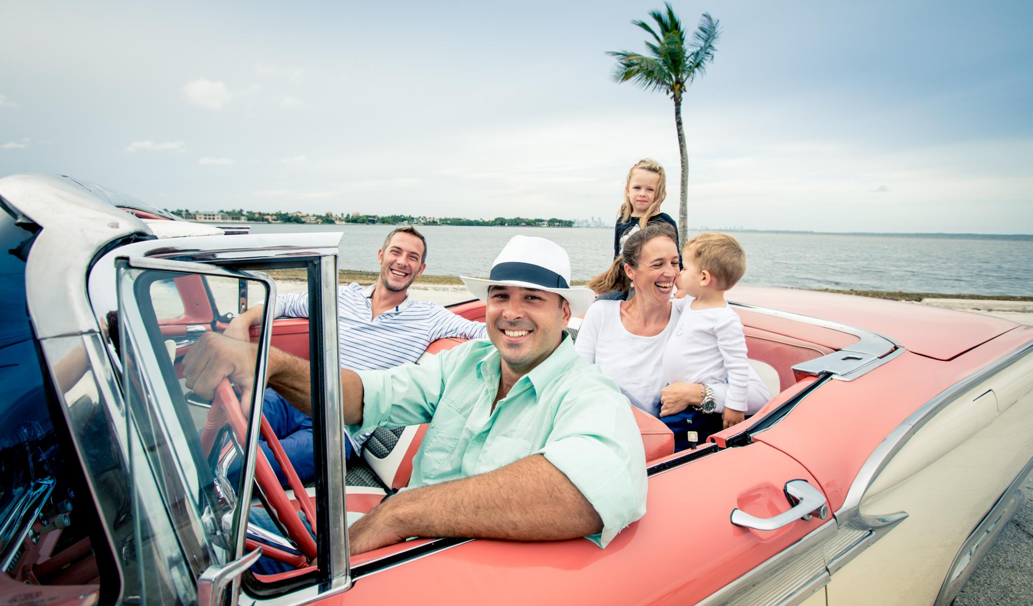 Classic Cadillac Convertible Car Tour