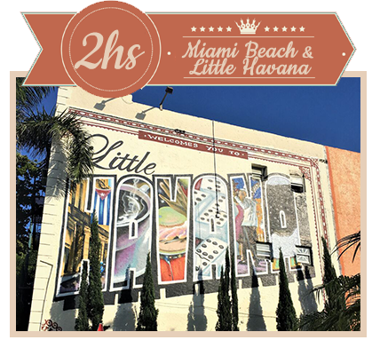 GET a Two Hour City Tour of Little Havana and Miami Beach in Antigue Convertible Car