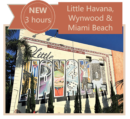 GET a Three Hour City Tour of Little Havana, Wynwood and Miami Beach in Antigue Convertible Car