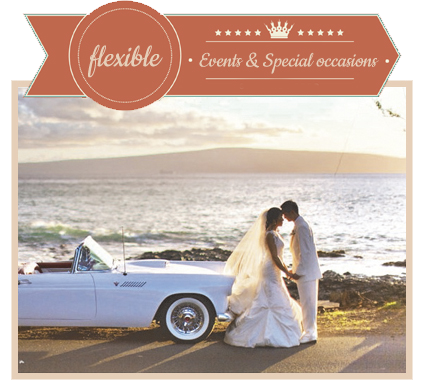 Rent Classic Convertible Car for Events and Special Occasions